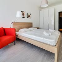 Karlin apartment with private parking