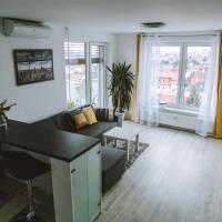 Design apartment, the city centre close to the health spa