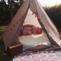 Small Tipi Tent By The Sea