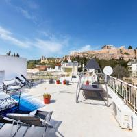 Your home under the Acropolis, roofdeck with view!