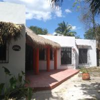 La casa de piedra y colores en Chichén Itzá