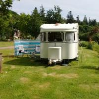 Jinny Vintage 1960's Caravan on Quiet Coastal Village Campsite