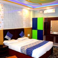 Rooms with 3 king size bedded & 2 single cart Beds in room + AC