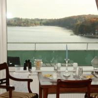 Panoramablick über den See