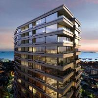 Luxury skyhigh apartment views of beach and city