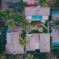 Luxury pool villa 500m from the sea