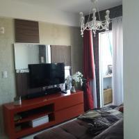 Aconchegante apartamento de 1 quarto em Sáo José com bela vista