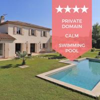 ❤️ Villa avec piscine dans domaine privé au calme absolu ❤️ 15 min plages !
