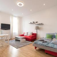 Bright Red Heart Apartment in Leopoldstadt