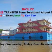 Suratthani Airport TJ Night Boat To Koh Tao