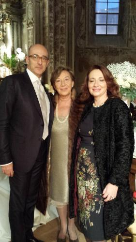Maria Domenica e i due figli, Roberta e Flavio