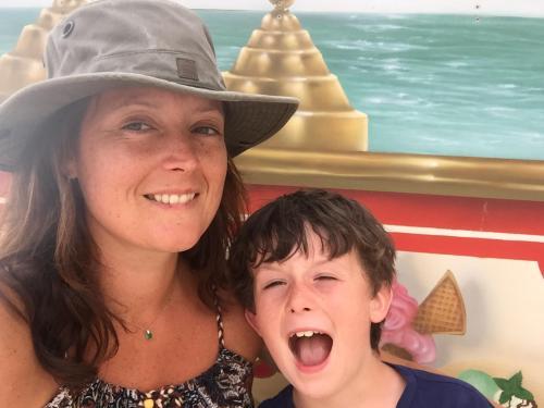 Amanda King and son