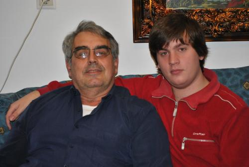 Dimitris and stelios (son)