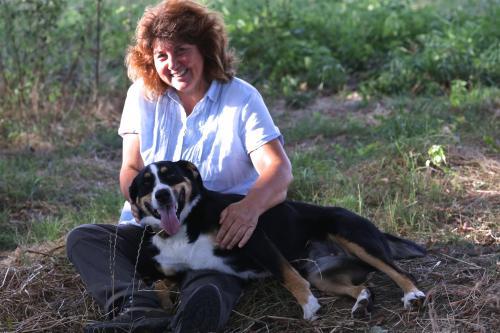 Esther Rudin-Merz mit Hund Kyra