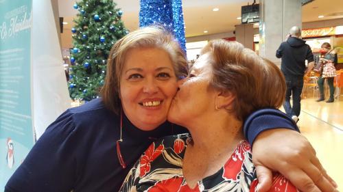 Vicky y su madre
