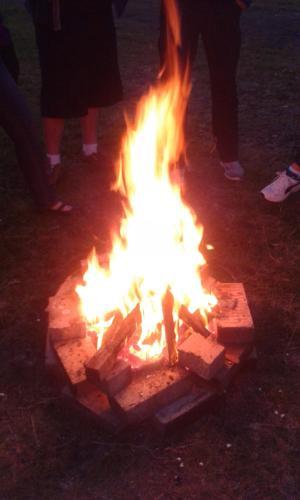 campfire at Steindal  summer 2016