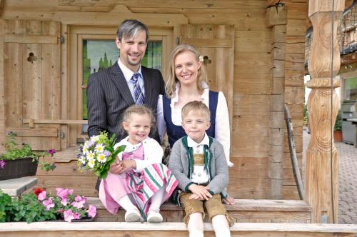 Das ist unsere Familie - Mein Mann Gustl und ich Anita und unsere wundervollen Kinder Maria und August