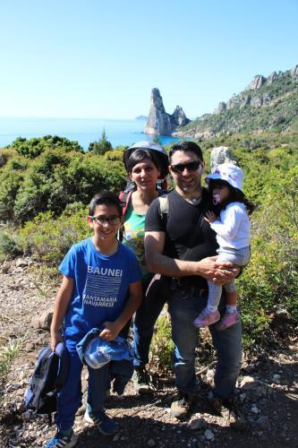 Dario (io), Mattutina (mia moglie), Tommaso e Marzia (miei figli).