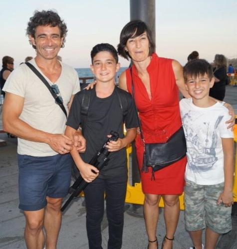JuanMa Medina, Juan Medina, Eva Andreu y Pablo Medina. La Familia.