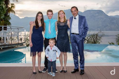 Familie Wachter Renata und Siegfried mit Kindern Geli, Paty, Nico