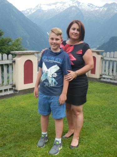 Mein Sohn Simon und ich
