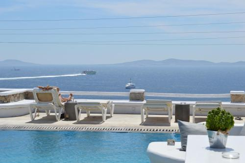 sea view from the pool!