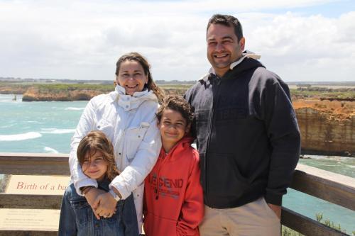 Mário Coelho (property manager) and family