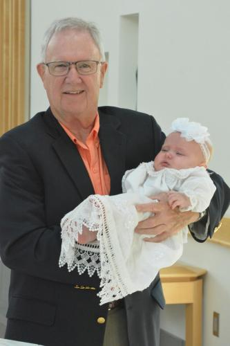 Bob Carrigan & great granddaughter Hasley