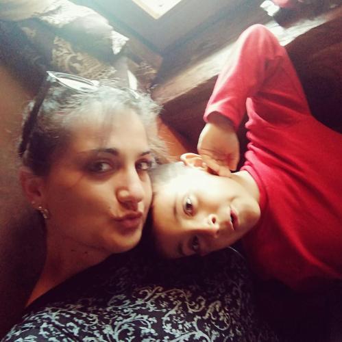 Michela e il piccolo Gabri