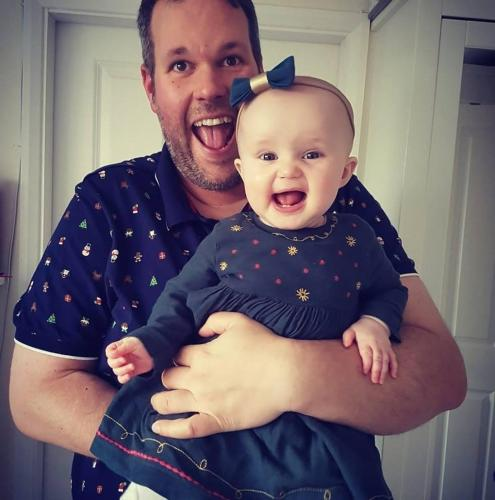 Piers & baby Isabelle