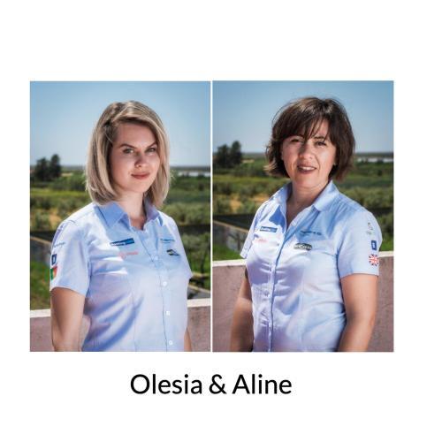 Olesia and Aline