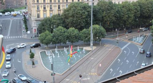 Vista Piazzale Cadorna dall'appartamento
